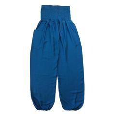 Blue Baggy Harem Pants