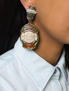 Shop Jean Paul Gaultier Pre-Owned oversized clip-on earrings Khaki Green, Green And Brown, Clip On Earrings, Drop Earrings, Jean Paul Gaultier, Beautiful Earrings, Michael Kors Watch, Shop Jean, Bracelet Watch