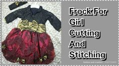 214f844b13e2 How To Make easy Frock For Girl Cutting and Stitching/stylish and beautiful  frock/latest designing