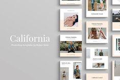 California Social Media Pack by Ruben Stom on @creativemarket #socialmedia #socialmediamarketing #posts #instagram #design #creative #influencer #photoshop #stylish #modern #marketing #template #stories #fashion