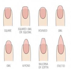 Looking for a new nail shape? For fall 2015 try a natural squoval, which looks ., for a new nail shape? For fall 2015 try a natural squoval, which looks good on long fingers & stubby ones and with neutral & bold colors 😉 wh. Grey Nail Polish, Gray Nails, Neutral Nails, Essie Nail Polish, Gel Nails Shape, Nail Shapes Squoval, Acrylic Nail Shapes, Squoval Acrylic Nails, Shapes Of Nails