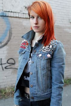 Hayley Williams got this custom denim jacket as a... | Hayley Williams Fashion - HayleyFashion.info on Tumblr