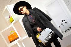 Bryanboy and the new Candy Bag at Furla Press Day