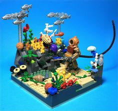 Reef Walk Lego Minifigs, Lego Duplo, Lego Ninjago, Legos, Lego Halloween, Big Lego, Lego Animals, Lego Craft, Lego Mecha