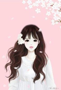 Imagem de anime, cute, and anime girl Korean Illustration, Illustration Girl, Korean Anime, Korean Art, Lovely Girl Image, Girls Image, Cute Cartoon Girl, Anime Lindo, Cute Girl Wallpaper