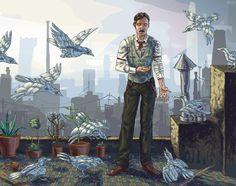 Nikola Tesla by TenSkies. :: Tesla loves pigeons.