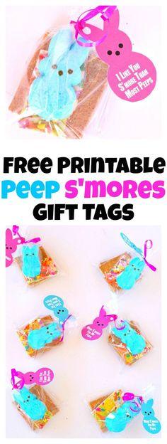 Free Printable Peep Smores Gift Tags