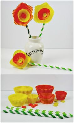 Easy DIY Cake Case Daffodils For Spring - 101 Easy DIY Spring Craft Ideas and Projects - DIY & Crafts