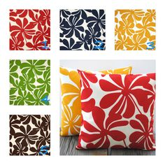 Listing includes 1 premier prints Indoor/Outdoor pillow cover. accent pillow, throw pillow, decorative pillow, floral pillow, coral pillow, red pillows, navy pillows, yellow pillows, green pillow, brown pillows