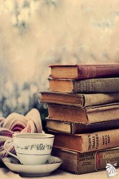 I LOVE books and reading. I always have a list of books for me to read after I finish one. Tea And Books, I Love Books, Books To Read, Reading Books, Reading Quotes, Stack Of Books, World Of Books, Book Aesthetic, Aesthetic Vintage