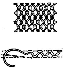 FLAT STITCHES: vocabulary 2: Chevron Stitch design by Mrs. A. Christie London 1920