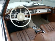 Mercedes SL, 280SL, 1969, interior