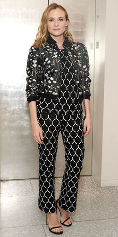 b4023c48d3a Diane Kruger clashed prints like a pro at a Women in Film event. Stuart  Weitzman