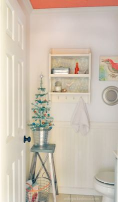 Christmas 2012 Powder Room At The Picket Fence