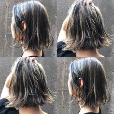 Pin on ヘアスタイル Medium Hair Cuts, Medium Hair Styles, Short Hair Styles, Hair Streaks, Aesthetic Hair, Grunge Hair, Dream Hair, About Hair, Summer Hairstyles