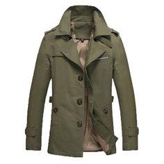 Solid Cotton Turn Down Collar Jacket For Men. #MenJacket #MehdiGinger