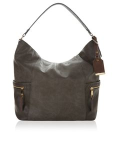 A chic day bag in a hobo silhouette, with useful design details including zipped slip pockets, a central divider pocket and a detachable ID card holder with gold bar detailing. Accessorize Bags, Day Bag, Hobo Bag, Women's Accessories, Purses And Bags, British Clothing, Divider, Chic, Card Holder