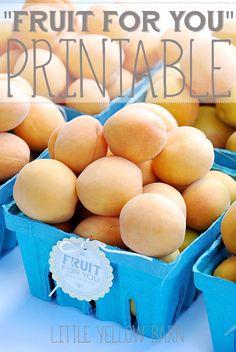 Cute gift idea!! Free Fruit For You Tags on { lilluna.com }