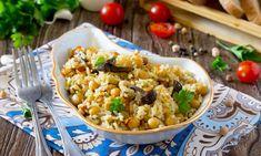 Νηστίσιμη συνταγή: Λεμονάτο ρεβιθόρυζο με μανιτάρια Fried Rice, Fries, Potatoes, Cooking Recipes, Vegetables, Ethnic Recipes, Food, Potato, Chef Recipes
