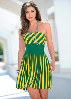 Vestido Tomara que Caia (Verde/Amarelo)