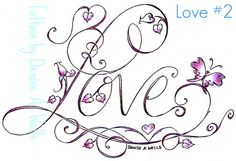 I like the look of this but instead of love have it spell out her name.