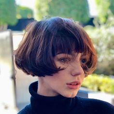 Louise Brooks meets fresh cut for this new decade on . Layered Bob Hairstyles, Pretty Hairstyles, Hair Inspo, Hair Inspiration, French Haircut, Medium Hair Styles, Short Hair Styles, Women Haircuts Long, Chin Length Hair
