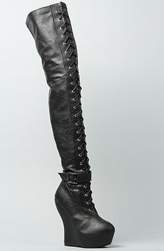*Sole Boutique The Ophelia Boot in Black : Karmaloop.com - Global Concrete Culture