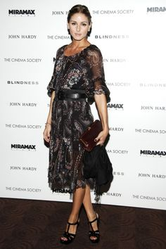 Olivia Palermo wearing Yves Saint Laurent Tribute Platform Sandals.