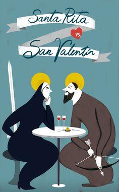 Santa Rita vs. San Valentín by natalia zaratiegui, via Behance
