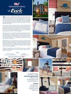 Vineyard Vines' suites at Lark Hotels.