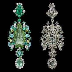 Dior Jewellery – Dear Dior: 'Organza Brodé Paraiba' earrings. Discover more on www.dior.com