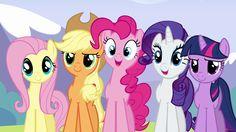 Main ponies happy for Rainbow