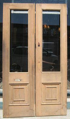 Pine single panel double doors.    Showroom Assistance:  Phone: 1 877-737-0554  Email:info@sa1969.com