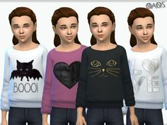 Long Sleeved Sweaters V1 by OranosTR at TSR via Sims 4 Updates