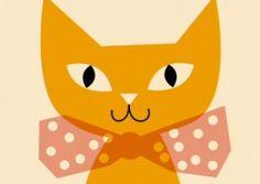 Affiche Ana Kovecses - Chat jaune 18.00�