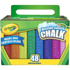 Crayola Washable Sidewalk Chalk brings vibrant color to kids' outdoor art and chalk games. Featuring a set of 48 classic Crayola colors, this chalk is Crayola Crayon Colors, Crayola Toys, Crayon Art, Tropical Colors, Bright Colors, Different Colors, Neon Colors, Outdoor Toys, Palette