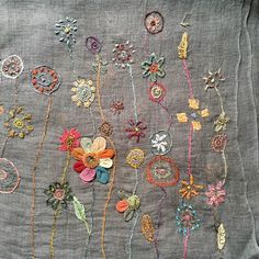 Sophie Digard at Loop London Crewel Embroidery, Hand Embroidery Designs, Embroidery Patterns, Crochet Quilt, Embroidery Techniques, Textile Art, Fiber Art, Needlework, Sewing Projects