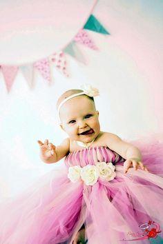 Tutu Dress, Flower Girl Dress- Tutu- Baby Tutu- Newborn Tutu-  Light Pink And Ivory Tutu Dress- Available In Size 0-24 Months