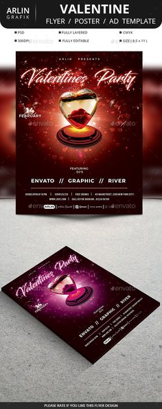 V Day Affair ValentineS Day Flyer Template  Flyer Template Text