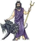 Hades was seen as a regal god. He was often seen as Aidoneus, enthroned in the underworld, or as Pluton, the giver of wealth. The Romans named him Dis, or Pluto.