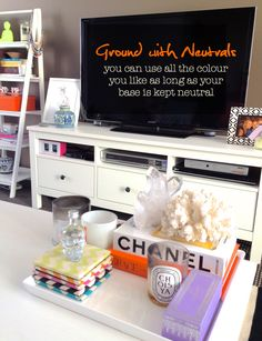 Nicole Fiedler's Colourful Bachelorette Pad - Living Room and TV unit