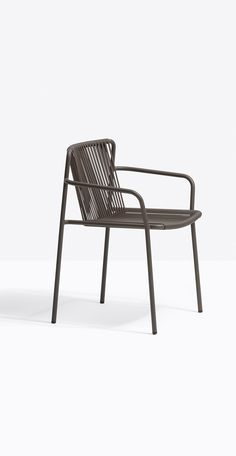 Comfortable outdoor chair with a flexible outdoor seat and power coated frame. Choose from 7 modern colours.