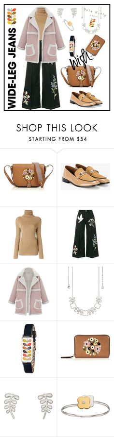 """#39 Wide-Leg Jeans. Orla Kiley Accessories"" by natahaya on Polyvore featuring мода, Orla Kiely, NewbarK, Vanessa Seward, Alexander McQueen и WithChic"