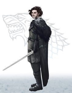 Jon Snow from GAME of THRONES Song of Ice and Fire by LeannHillArt