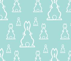 Cute Rabbits fabric by cloudycapevintage on Spoonflower - custom fabric