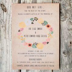 Wedding Invitation Suite - , floral wreath, casual wedding, | Sumally (サマリー)
