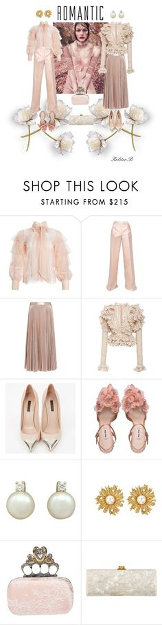 """Pearls & Lace"" by kolster-b ❤ liked on Polyvore featuring Alice + Olivia, Antonio Berardi, A.L.C., Louis Vuitton, Oscar de la Renta, Alexander McQueen and Edie Parker"