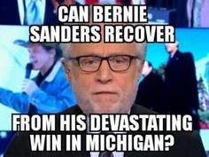 Humorous memes inspired by Democrat Bernie Sanders's 2016 presidential campaign.: Bernie Sanders's Devastating Win