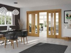 Oak Easi-Slide is a modern take on a style room divider. Using a sliding door system this allows light to flow through rooms white keeping a clean modern design Internal Sliding Doors, Internal French Doors, Sliding Door Systems, Sliding Glass Door, Glass Doors, Indoor Sliding Doors, Glass Walls, Double Doors, Sliding Door Room Dividers