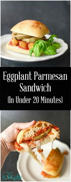 Baked mozzarella sticks and freshly roasted eggplant make whipping up an eggplant parmesan sandwich incredibly easy and fast. In under 20 minutes, have dinner ready to serve for those busy back-to-school weeknights. The secret to the speed?  Using mozzarella sticks from /farmrichsnacks/ .  #20MinutesToTasty #ad